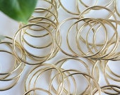 Gold ring thin, metal brass rings macrame DIY plant hanger rings, 2 inches, set of 10