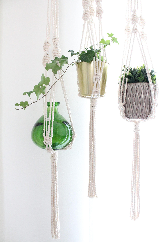 suspension jardini re macram pour plante long int rieur. Black Bedroom Furniture Sets. Home Design Ideas