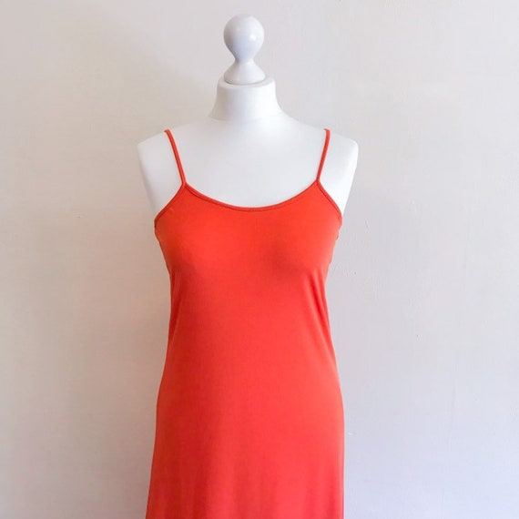 Vintage 1990s orange starp maxi dress