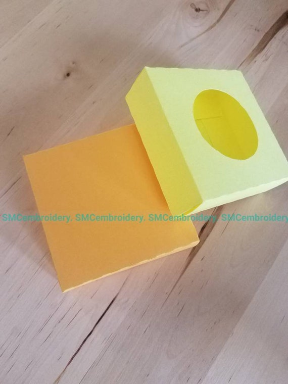 box template  3x3x1inch box made from cardstock  gift box  diy box  cookie  box  Make up box