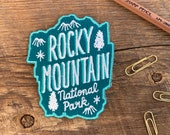 Rocky Mountain Patch, Rocky Mountain National Park Patch, Single Embroidered Patch with Iron-on