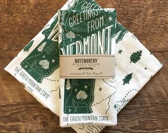 Vermont Tea Towel, Vermont State Tea Towel, Single Screen Printed Kitchen Towel