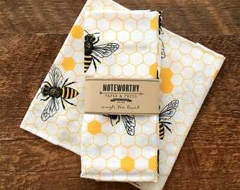 Honey Bee Tea Towel, Kitchen Towel