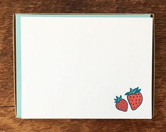 Boxed Stationery Hello Boxed Set of 8 Letterpress Flat Notes Ski Motif