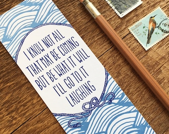Herman Melville Quote, Literary Quote, Thick Letterpress Bookmark
