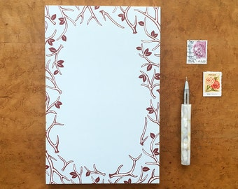 Antler Notepad, Antler Pattern, 5.5 x 8.5 To Do List Pad