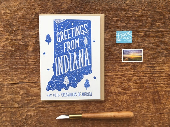 CardGreetings Note IndianaA6 Greeting Inside Blank Indiana Folded From GMSUpqzV