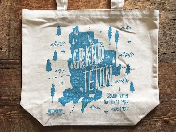 Grand Teton Tote Bag Grand Teton National Park Canvas Tote