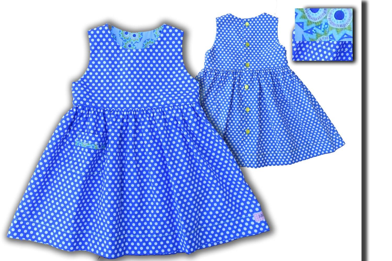 807fa2b86d5 Robe été fille robe de fête robe fillette robe bleu Klein