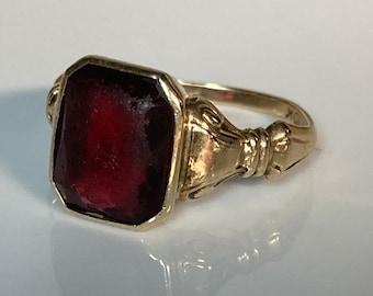 925 Silver Antique Rose Cut Polki Ring Diamond Ring Vintage Ruby Ring Wedding Ring Victorian Ring KR/_334