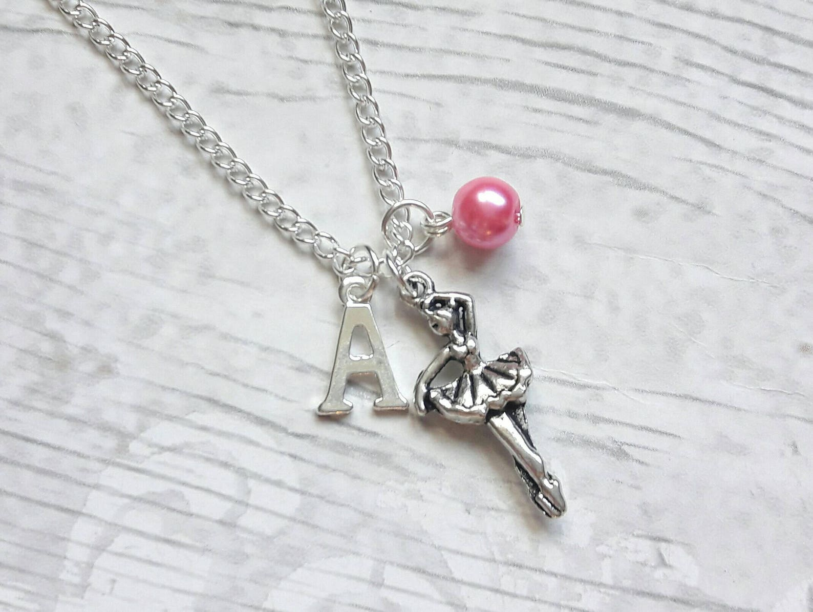 ballerina necklace, ballet dancer jewelry, dance necklace, personalised necklace, kids jewellery, gifts for girls, dancing prese