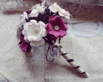 Bouquet of flowers, bouquet of flowers, pink flowers, vintage, roses, roses