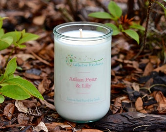 13oz Floral Collection ~ Recycled Glass Soy Candle
