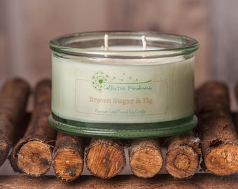 8oz Rich & Sweet Collection ~ Recycled Glass Soy Candle