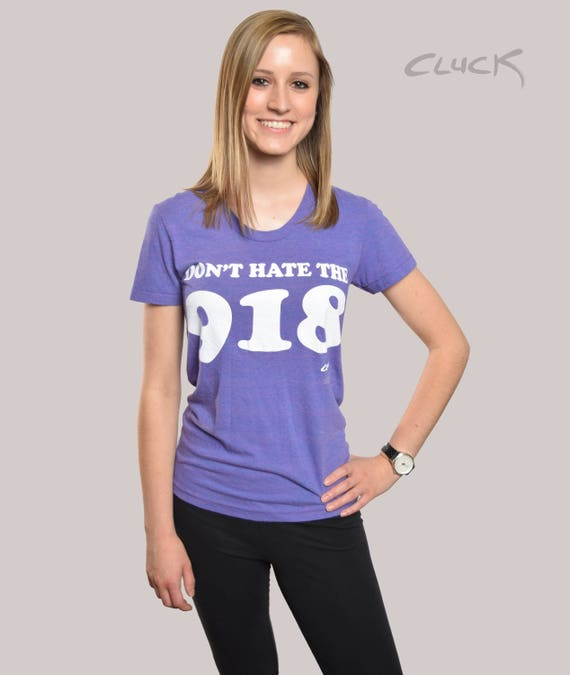 Don't Hate the 918 T-shirt - Made With Love in Tulsa, Oklahoma by Pop Artist Steve Cluck - 20% off with the coupon code MIMOSA