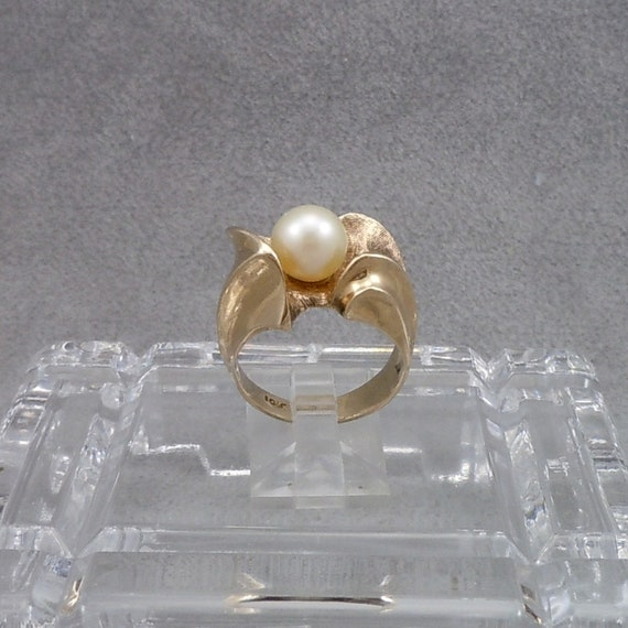 Vintage, Pearl Ring, Japanese, Cultured Pearl Ring