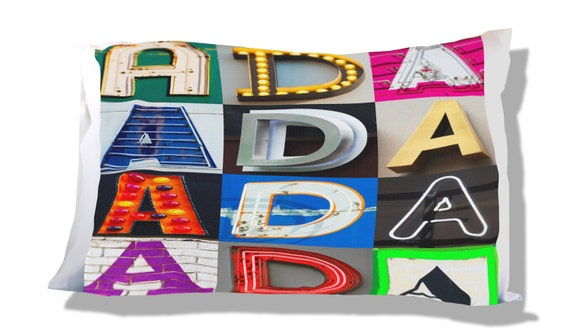 Personalized Pillow Case featuring AUDRIANA in sign letters; Custom pillow cases; Teen bedroom decor; Cool pillowcase; Personalised bedding