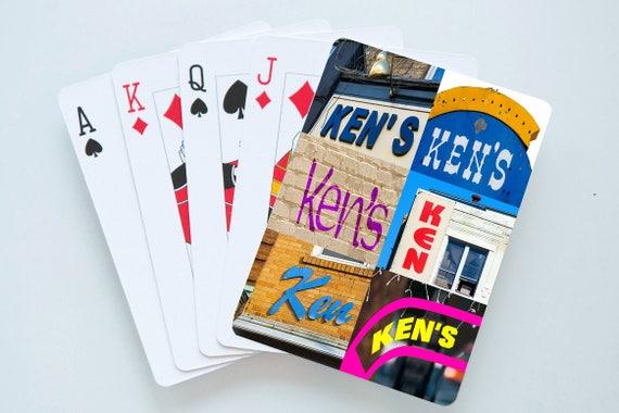 Cartes à jouer personnalisées comportant le nom de KEN en réelle signe photos; Cartes à jouer personnalisées; Jeu de cartes; Poker; Jeux de cartes