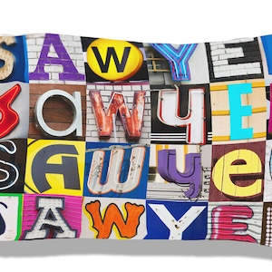 Personalized Pillow Case featuring NASH in sign letters; Custom pillowcases; Teen bedroom decor; Cool pillowcase; Bedding