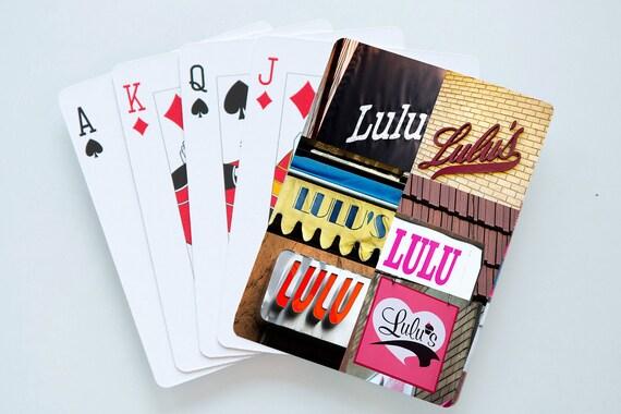 Cartes à jouer personnalisées comportant le nom LULU en réelle signe photos; Cartes à jouer personnalisées; Jeu de cartes; Poker; Jeux de cartes