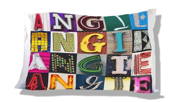 Personalized Pillow Case featuring BRODEN in sign letters; Custom pillow cases; Teen bedroom decor; Cool pillowcase; Personalised bedding