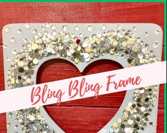 Let's DIY Club - DIY Kits for Kids and their Families - Valentine's Bling Frame or Photo Holder