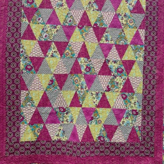 Handmade Quilt-Unique Teen Birthday Quilt Purple Quilt Gift
