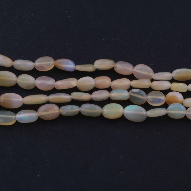 Fire Opal Briolettes 5mmx2mm-6mmx4mm 16 Inches BR1748 1 Strand Natural Ethiopian Welo Opal Smooth Briolettes,Opal Oval Beads