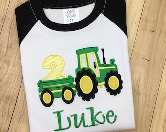 10 Off Tractor 2nd Birthday Shirt