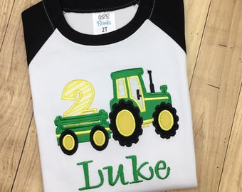 15 Off Tractor 2nd Birthday Shirt