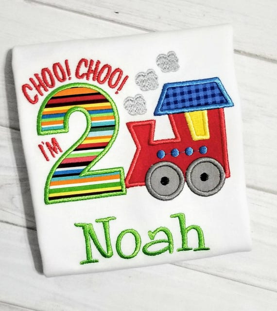 20 Off Free Shipping 2nd Birthday Train Shirt Choo