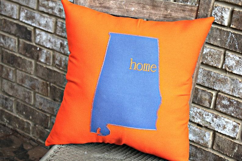 Auburn Decor Auburn Pillow War Eagle Alabama State Pillow