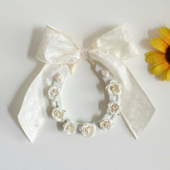 Wedding Horseshoes Decorated Horseshoes Floral Wedding Etsy