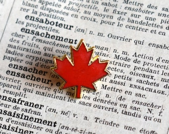 441d66e780 Canadian Maple Leaf Pin - Canadian Flag - Canada Day - Vintage Lapel Pin -  Gift for Canadians