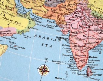 World Map 1940 Etsy