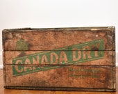 Canady Dry Crate - Wooden Soda Crate - Drink Canada Dry - Made in Canada - circa 1960s