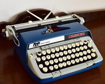 Smith Corona Classic 12 Portable Manual Typewriter - Blue and Gray - SMITH CORONA - Made in Canada - 100% Functional