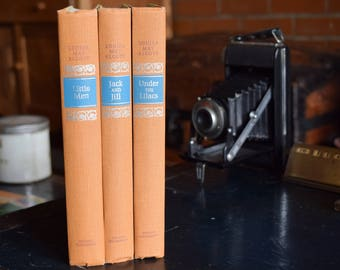 Vintage Louisa May Alcott Book Collection - Set of 3 Hardcover Books - Nelson Doubleday Inc. - Mid Century Retro - 1960s - Printed in USA