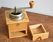 Vintage Wooden Coffee Mill - Klingenthal Mill - Bean Grinder - Made in Germany