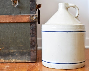 Antique Crock Jug - Whisky Jug - Moonshine Jug - Ontario Pottery - Made in Canada