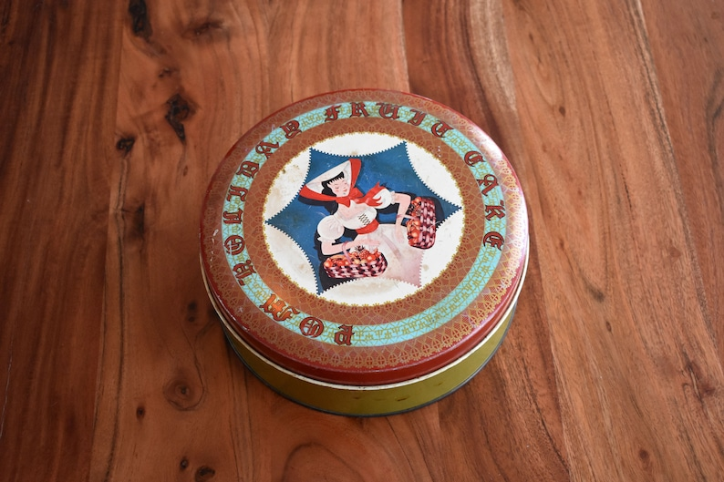 Harrison Brothers Limited Quebec Pom Holiday Fruit Cake Tin Montreal POM HOLIDAY BREAD Canada