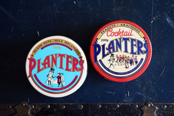 Planters Peanuts Tins Set of 2 Collector's Edition on