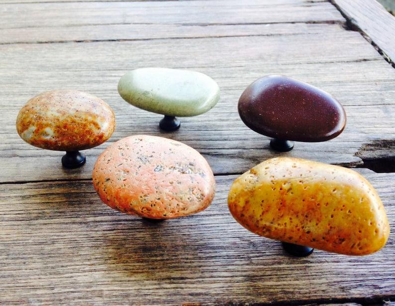 Idaho Natural River Rock Cabinet Hardware image 0
