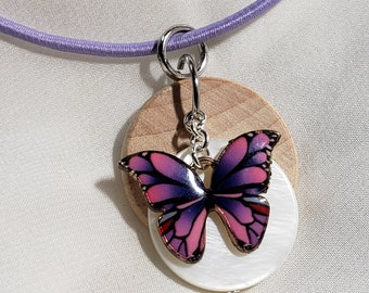 Butterfly, kids diffuser necklace, girls diffuser, diffuser necklace, necklace for essential oil, aromatherapy, diffuser, essential oil, 605