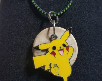 Pikachu Pokemon, kids diffuser necklace, diffuser necklace, aromatherapy, necklace for essential oil, boys diffuser, girls diffuser, EC322