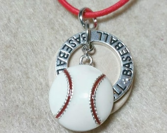 Baseball, Kids diffuser necklace, teen diffuser necklace, essential oil necklace, diffuser, aromatherapy necklace, oil, necklace, sport, 442