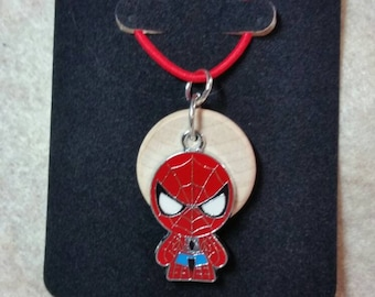Spiderman, kids diffuser necklace, diffuser necklace, spider, necklace for essential oil, superhero, essential oil necklace, Marvel EC226
