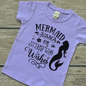 Let/'s Be Mermaids Girls Infant Baby Toddler Vinyl Graphic Tee Shirt Multiple Colors and Sizes 6-24 months