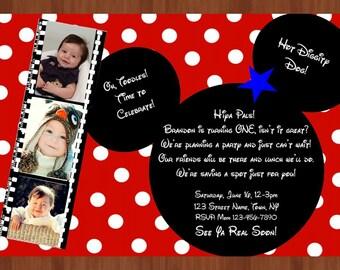 Mickey party invitation