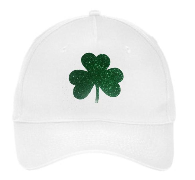 b9122ba5af6 Baseball Caps Irish Hats St Patricks Day Glitter Shamrock